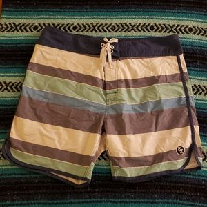 Ezekiel striped Board Shorts size 38